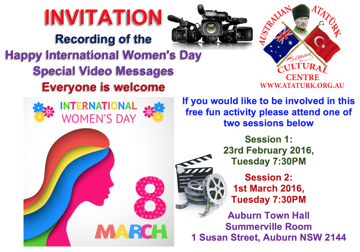 8 March Womens Day Video Message Invitation EN