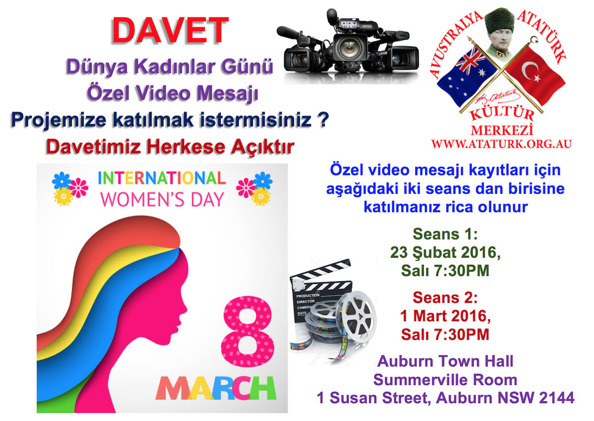 8 March Womens Day Video Message Invitation TR